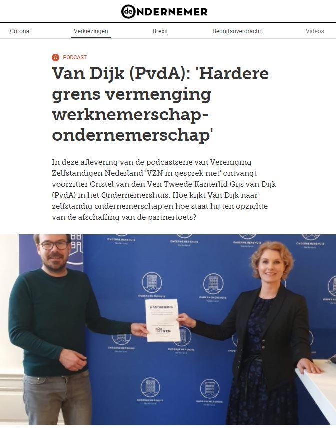 """Wat is dat: """"ondernemer""""? VZN in gesprek met de politiek: PvdA"""