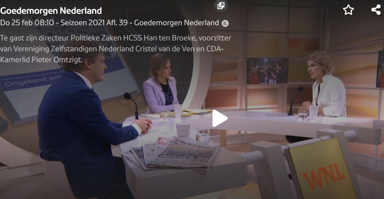 Nieuwe Toeslagenaffaire treft zelfstandigen. VZN bij Goedemorgen Nederland