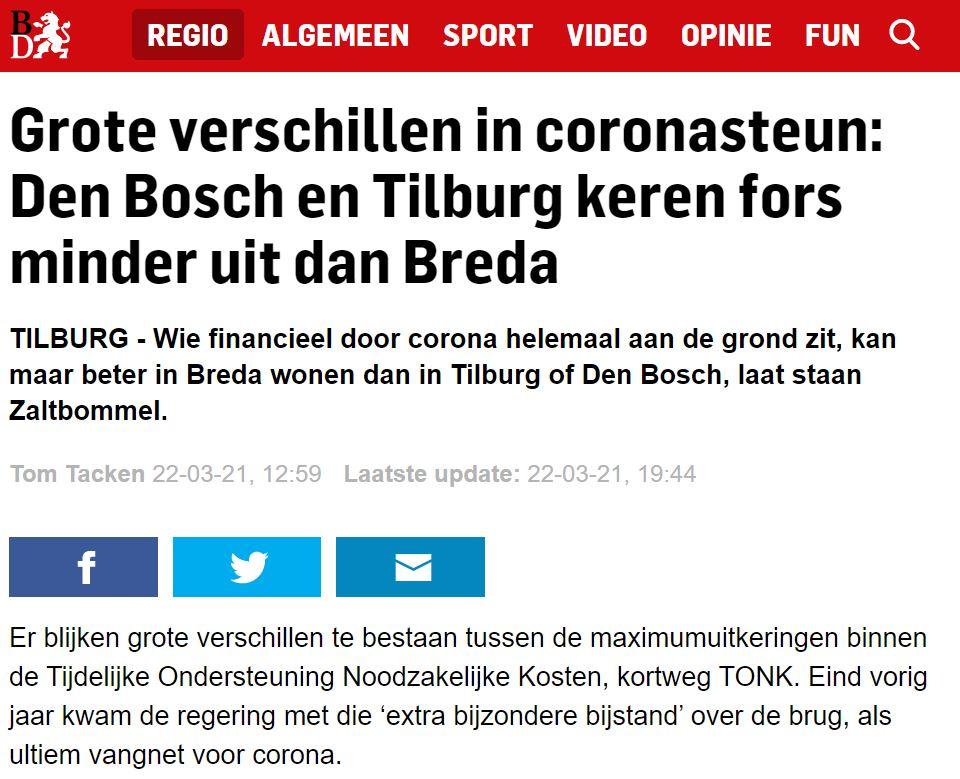 Maatwerk of ongelijke behandeling? VZN over TONK in Brabants Dagblad