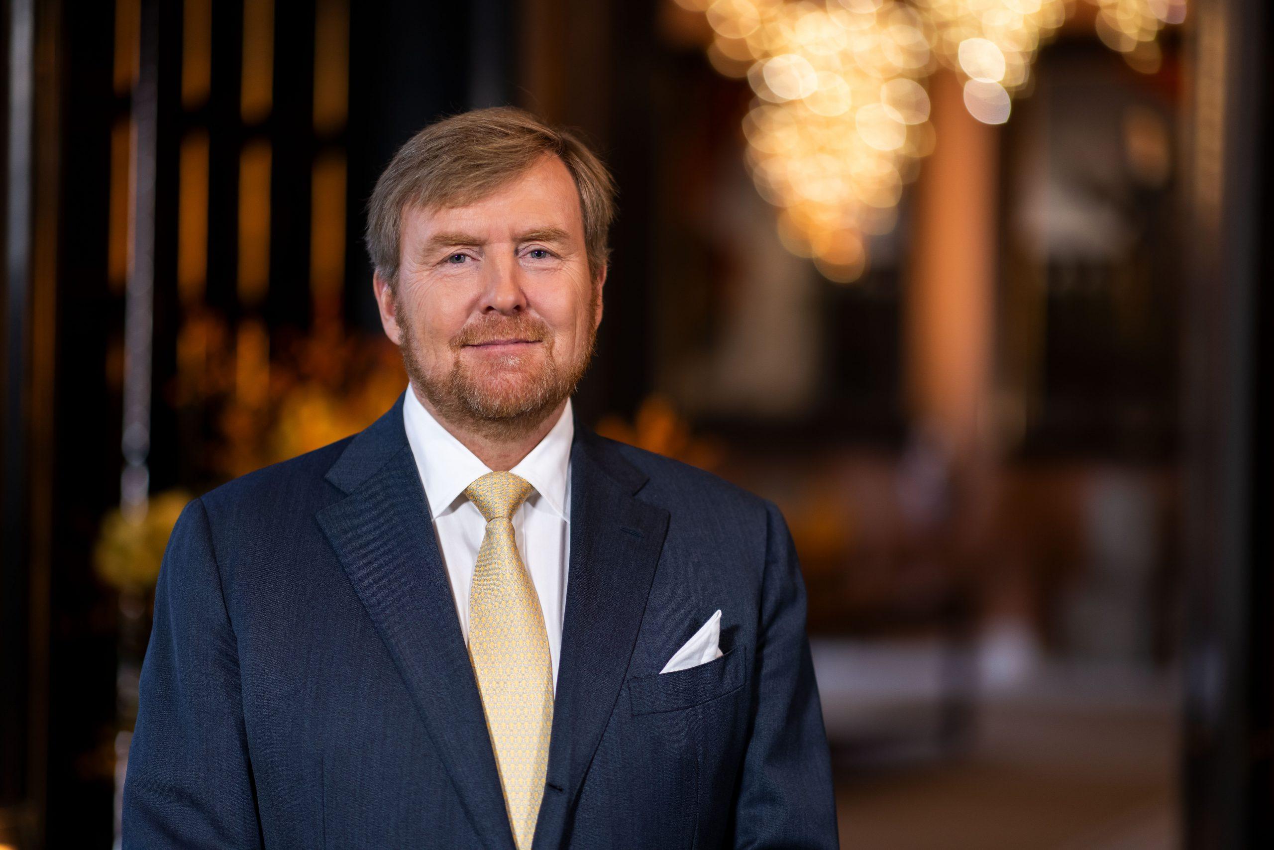 Koning Willem Alexander brengt op donderdag 15 april een online bezoek aan VZN